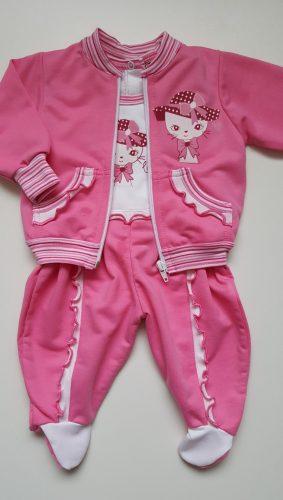 pink cicás bébi kétrészes